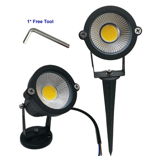 9W 7W 5W 3W Led 정원 LED 램프 110 V 220V COB 야외 풍경 스포트 라이트 스파이크 자료 IP65 정원 마당 통로 잔디 빛|LED 론 램프|등 & 조명 -