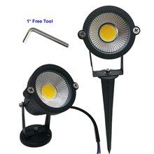 9W 7W 5W 3W Led גן מנורת LED 110 V 220V COB חיצוני נוף זרקור עם ספייק בסיס IP65 גן חצר מסלול דשא אור