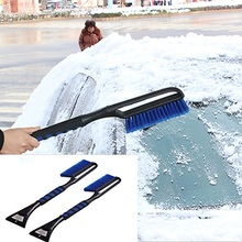 Автомобильный Прочный инструмент для очистки лед, снег, лопата, Щетка с длинной выдвижной ручкой, удлиняющий автомобильный скребок для снега