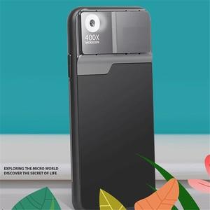 Чехол для телефона с объективом микроскопа для iPhone12/12 Pro/12 Pro Max 400X HD чехол для смартфона с увеличением