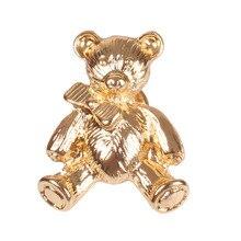 10 шт./лот модные ювелирные изделия аксессуары Золотой металлический медведь значок брошь булавки