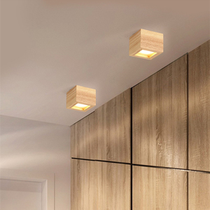 Image 4 - LED 통 표면 6W 천장 조명 Led 천장 Downlight 북유럽 철 + 나무 스포트 라이트 실내 로비, 거실