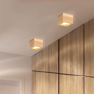 Image 4 - LED Superficie Da Incasso 6W Luci di Soffitto del Led Montato A Soffitto Da Incasso Nordic Ferro + luce del Punto di legno per interni Foyer, soggiorno