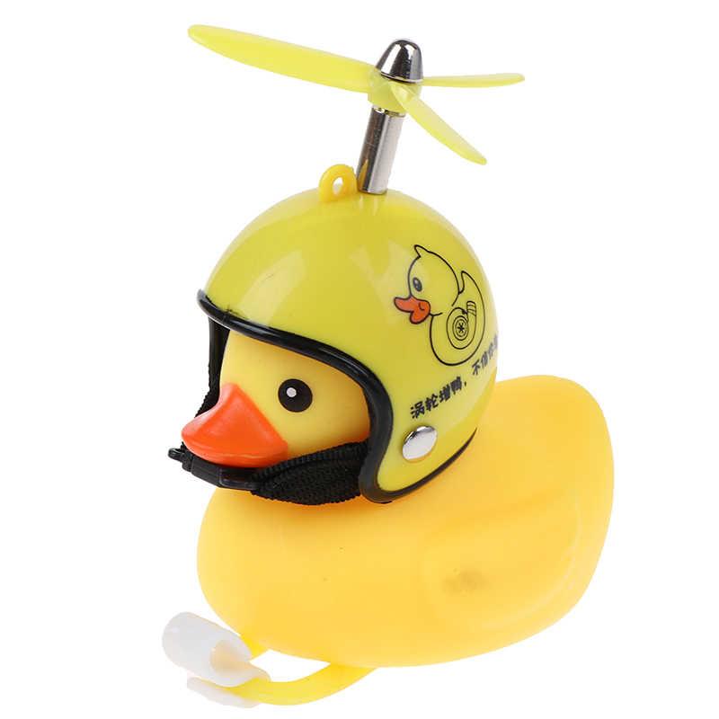 1pcs Yellow Silica Gel Little Duck Shape Bicycle Bells Mountain Bike Head L BRUS