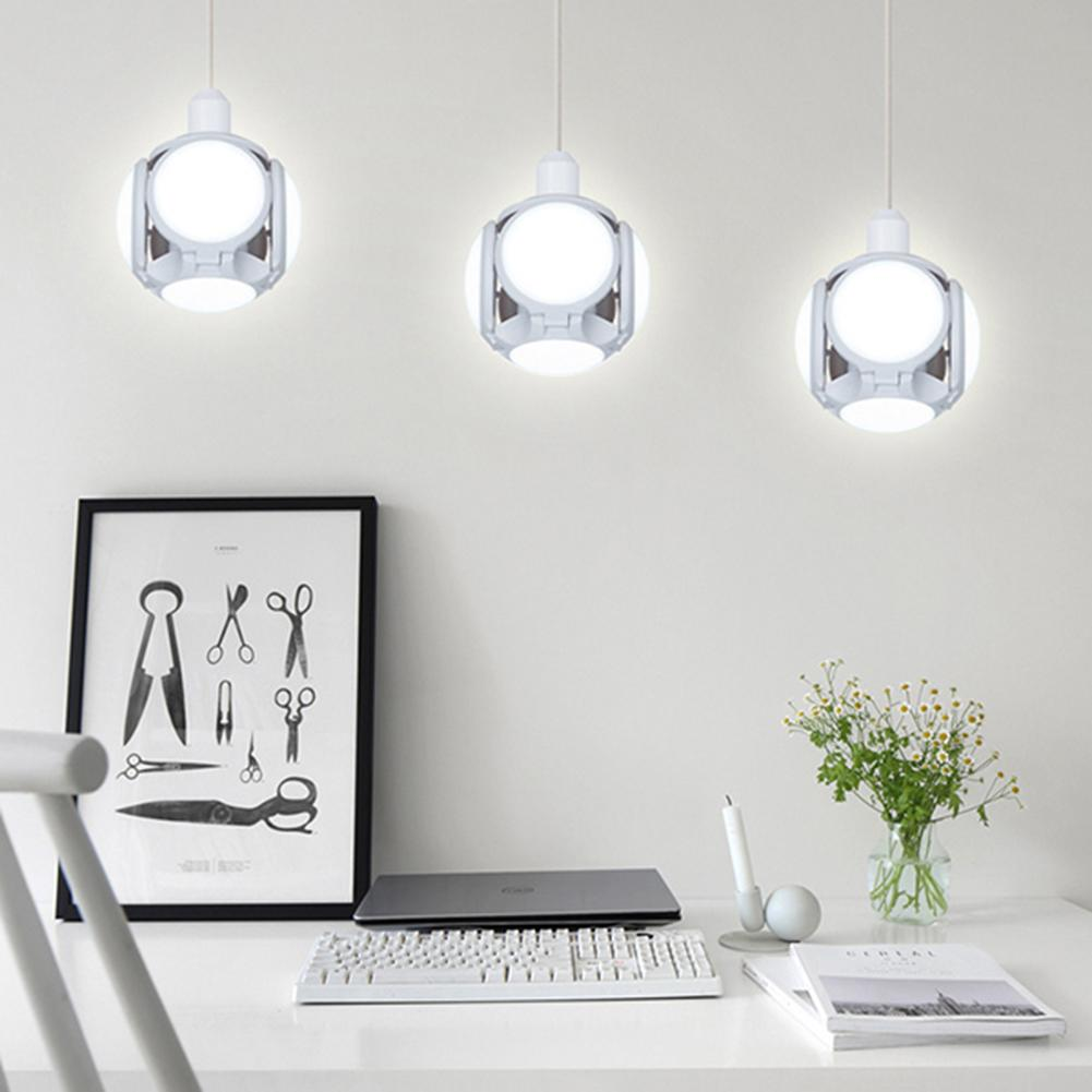 E27 LED UFO Bulb Lamp Deformable 40W Durable Long Life Overload Protection Football Shaped Home Bar Hall Ceiling Light