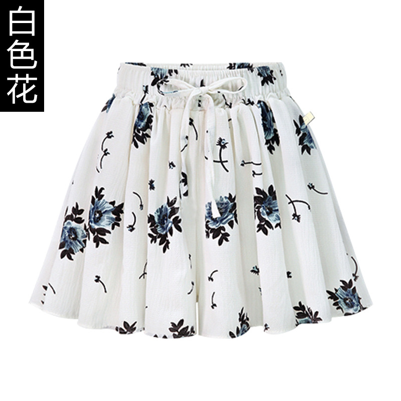 Wide Leg Shorts Skirt Female Summer 200 Kg New High Waist Large Size Loose A Word Skirt Pants Fat Mm Chiffon Hot Pants Red