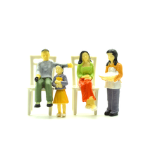 1:30 scale color model family people in four members 4 sets random for diorama home making
