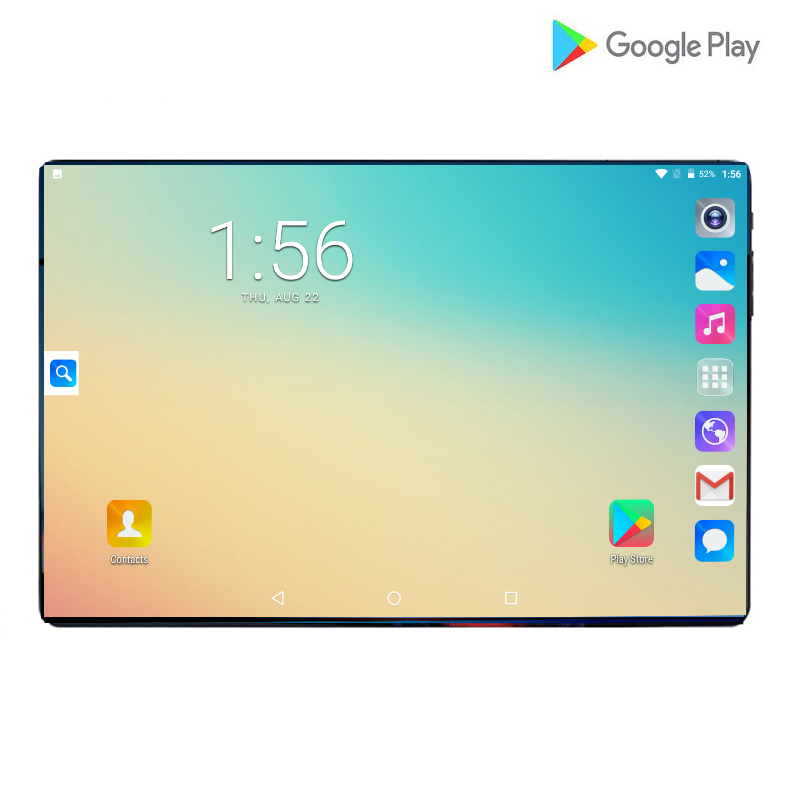 2019 New T10 Pro Mobile Phone Tablets Android 9.0 10 Inch MTK8752 Octa Core 6GB RAM 64GB ROM 8MP Dual Camera 4G LTE Tablets 10.1