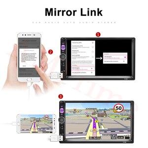 """Image 5 - Автомагнитола AMPrime, мультимедийный плеер с 7 """"сенсорным экраном, MP5, Bluetooth, USB, камерой заднего вида, типоразмер 2 Din"""