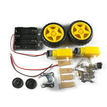 Twee-wiel Single-layer Tracking Intelligente Robot Car Chassis Kit Speed Encoder Batterij Box 2WD Voor Arduino(China)