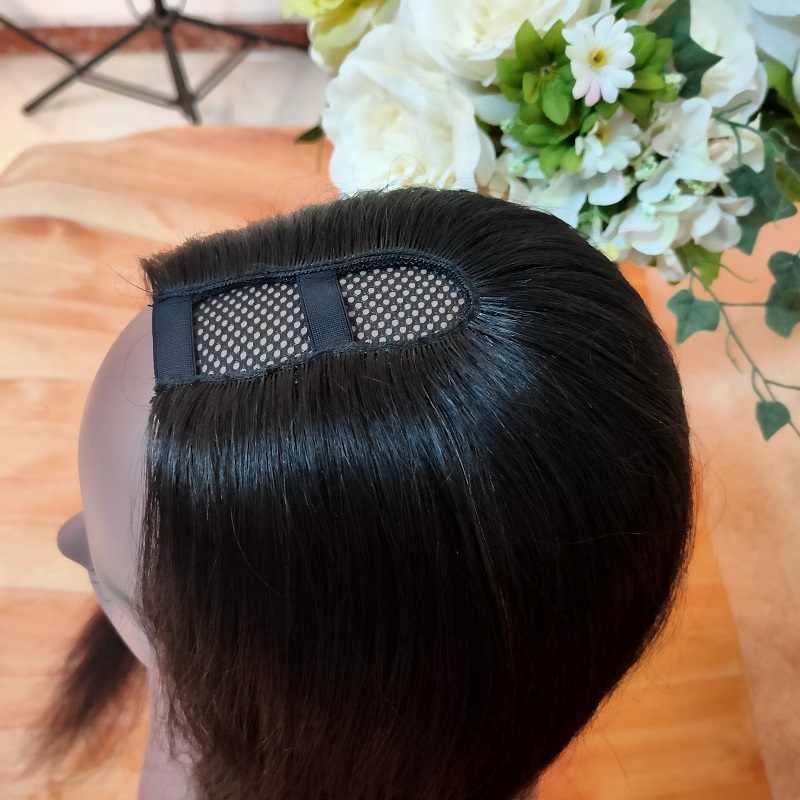 U parçası peruk düz brezilyalı 150 yoğunluk orta kısmı İnsan saç peruk Remy önceden koparıp doğal düz peruk kadınlar için stokta