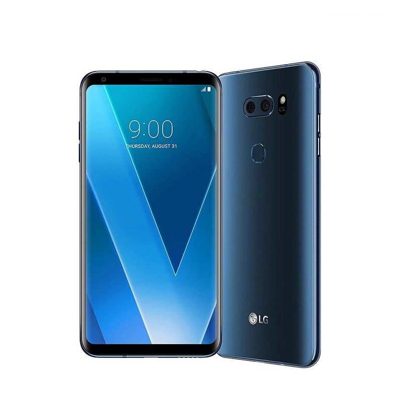 """Разблокированный LG V30 4 Гб ОЗУ 64 Гб/128 Гб ПЗУ 6,"""" полный экран Qualcomm835 Восьмиядерный двойной задней камеры(без ивритского языка - Цвет: Синий"""