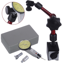 Practical Measuring Tool Flexible Magnetic Base Holder + Scale Precision Dial Test Indicator Gauge Stand Indicator Tool universal metal magnetic base for lever dial test gauge indicator mayitr precision rotary magnetic stand holder measuring tool