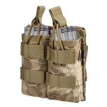 Tactical Molle Mag Open Pouch Double Bracket Holster for M4