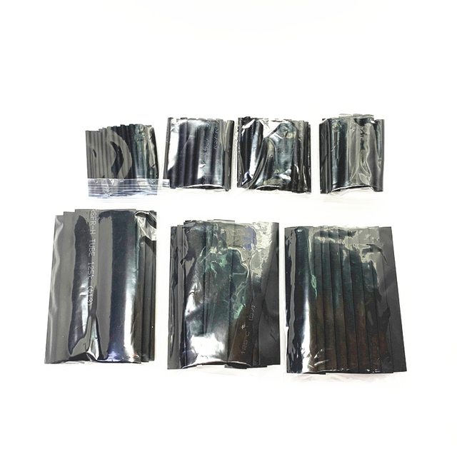 127Pcs Nero Resistente Alle Intemperie Tubi Termorestringenti Guaine Tubo Assortimento Kit Wrap Cavo di Collegamento Elettrico Filo Elettrico