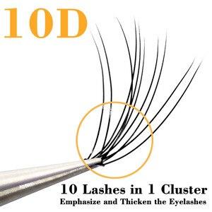 Image 2 - Kimcci profesyonel kirpik uzatma doğal el yapımı 10D vizon makyaj bireysel küme göz Lashes aşılama yanlış kirpik