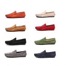Mens Casual Genuine Leather Loafers Fashion Men Sho
