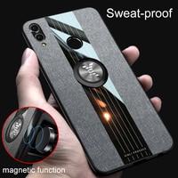 Für Huawei Honor 8X Max X10 7X 8S 9X 10 30 Lite 10i 20i Fall Stoff Magnetische Ring Telefon abdeckung Honor Beachten Ansicht 10 20 30 Spielen Fall