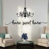 Home Sweet Home Words Wall Sticker Entryway Bedroom Large Family Love Quote Sweet Home Quote Wall Decal Living Room Vinyl Decor