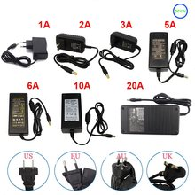 Светодиодный адаптер Питание переменного тока в постоянный ток 5 В, 12 В, 24 В постоянного тока, переключатель Трансформатор 1A 2A 3A 5A 6A 8A 10A адапт...