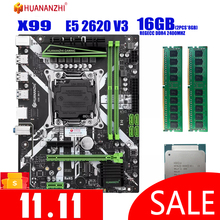 HUANANZHI X99 motherboard with XEON E5 2620 V3 2*8G DDR4 2400Mhz REGECC memory combo kit set NVME USB3.0 MATX Server