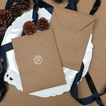 Niestandardowe przyjazne dla środowiska europejski i amerykański styl naturalny papier 198g jasnobrązowy formalne na wesele zaproszenie koperta tanie tanio CRANEKEY CN (pochodzenie) customized 198qz Okna koperty Zwykłym papierze Prezent koperty