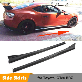 Carbon Fiber Side Skirts Bumper Extensions Lip Splitters For Subaru BRZ Toyota GT86 Body Kit Door Aprons 2013-2020 image