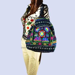 Image 3 - Tribal Vintage Hmong Thai Indian Ethnic Embroidery Bohemian Boho rucksack shoulder hippie ethnic bag backpack bag L size SYS 567