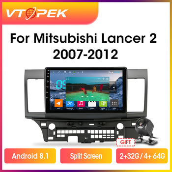 Vtopek 10.1 DSP 4G+WiFi 2din Android Car Radio Multimidia Video Player Navigation GPS For Mitsubishi Lancer 2007-2012 Head Unit vtopek 2din 2 32g 4g net wifi car multimedia player for mitsubishi lancer 2007 2012 navigation gps auto android radio 2 din dvd