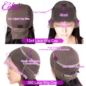 Image 5 - Kinky Straight Wig Celie Lace Front Human Hair Wigs For Black Women Pre Plucked 360 Lace Frontal Wig Glueless Human Hair Wigs