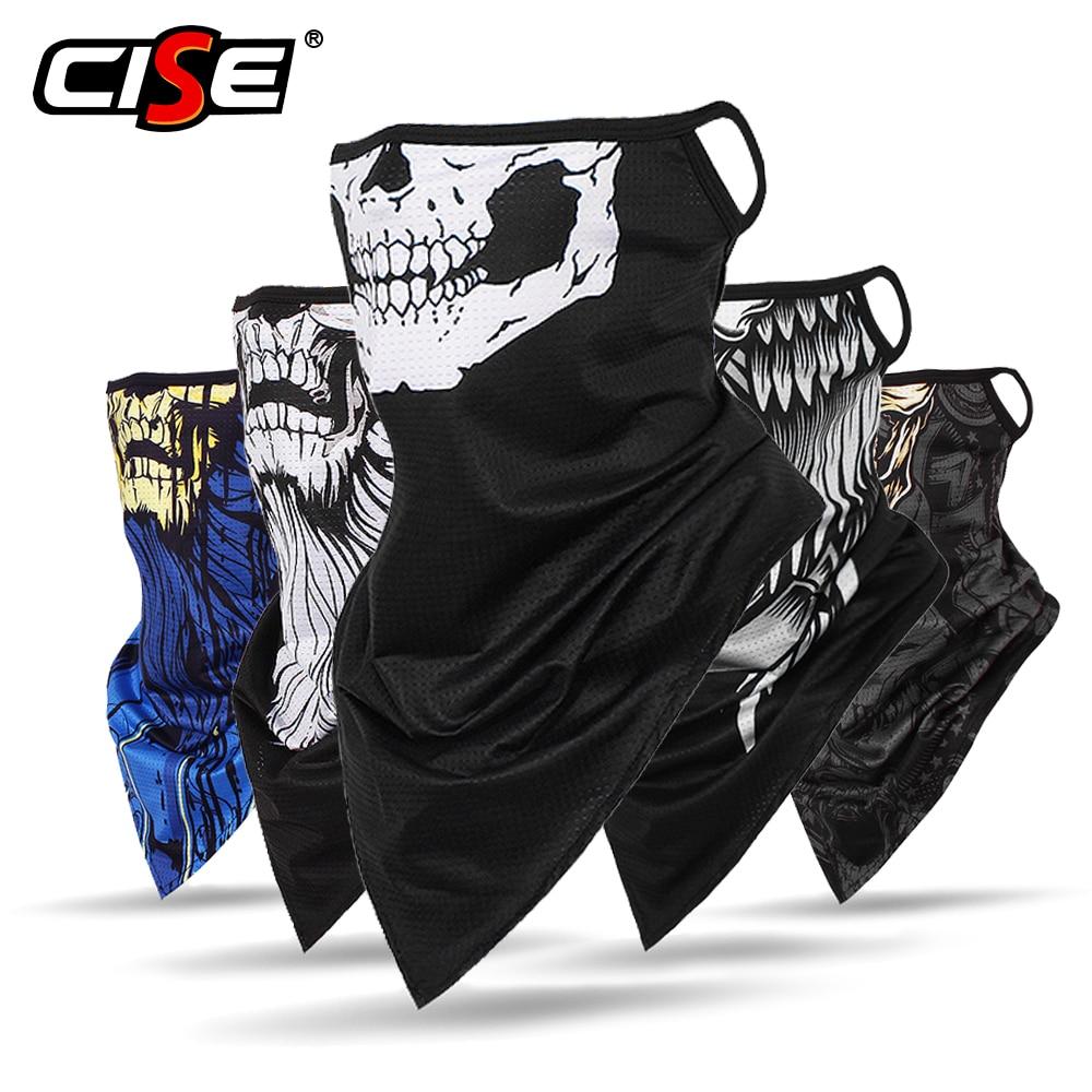 Breathable Ghost Skull Balaclava Motorcycle Face Shield Summer Moto Motobike Biker Neck Gaiter Bandana Ear Hanging Sun Masks