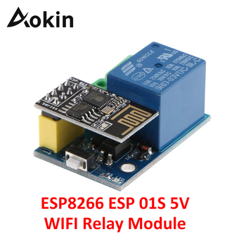 Aokin ESP8266 ESP 01S 5V WiFi Relay Module Things Smart Home Remote Control Switch for Phone APP ESP01 Relay Module 5v esp8266 dual wifi relay module internet of things smart home mobile app remote switch