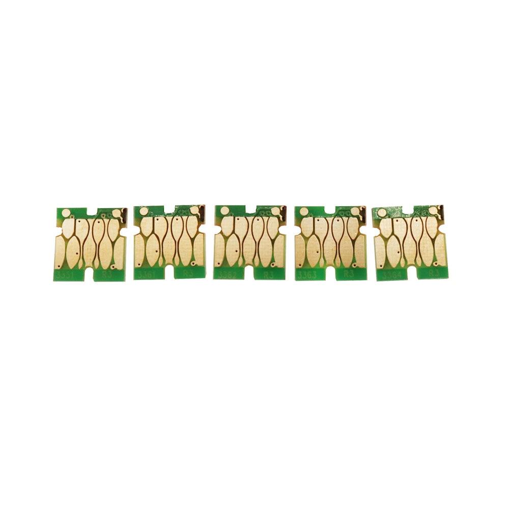 5-color Permanent Chips T3351 T3361 - T3364 T33 T33XL ARC Auto Reset Chip For Epson XP530 XP900 XP830 XP645 XP635 XP630 XP540