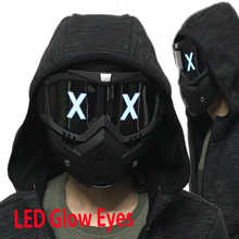 LED Lights Mask Luminous Half Face X Glowing Eyes DIY Eyewear Mask Removable masks DJ Party Halloween Cosplay Prop Gift - DISCOUNT ITEM  30% OFF Novelty & Special Use