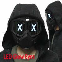 Led-leuchten Maske Leuchtenden Halbe Gesicht X Glowing Augen DIY Brillen Maske Abnehmbare masken DJ Party Halloween Cosplay Prop Geschenk