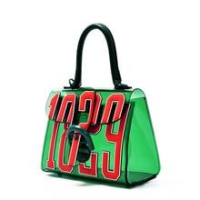 Fashion 2019 Women Transparent Bag Design Luxury Clear PU Composite Jelly Letter Pattern Handbags Female Shoulder Bag Small Tote цены