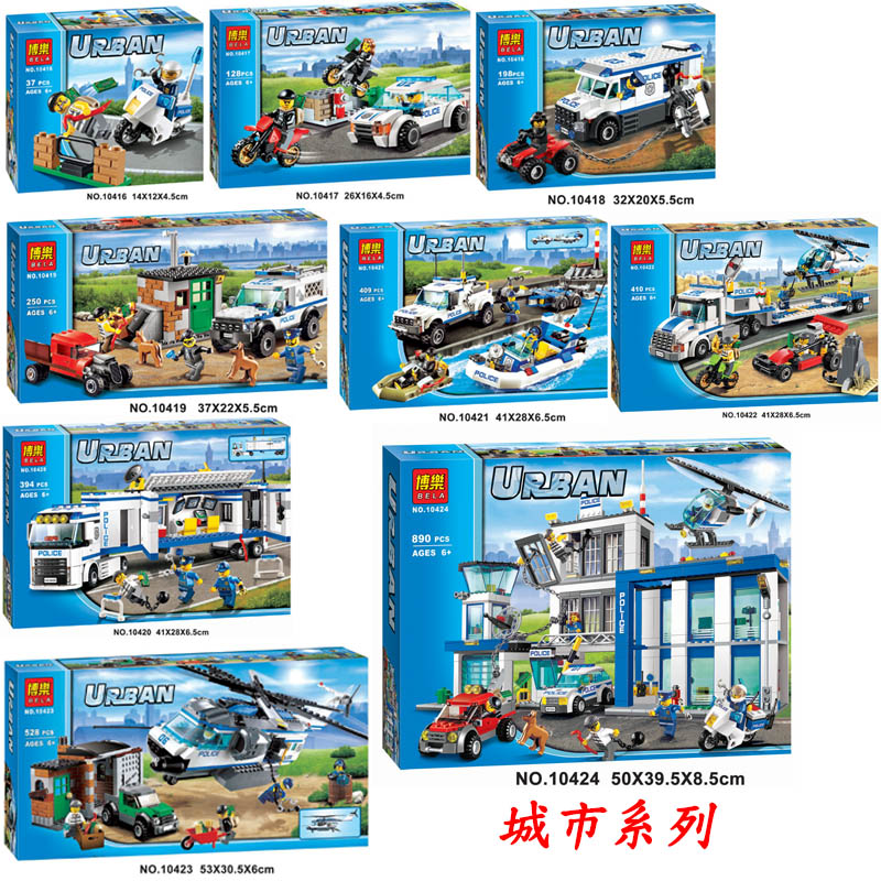 City Police Station Motorbike Helicopter Model Boy Girl Friends Building Blocks Bricks Kits Compatible With City Christmas Gifts
