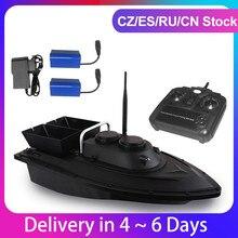 Радиоуправляемая лодка с 2 аккумуляторами D11, рыболокатор, лодка для рыбалки, наживка 1,5 кг, дистанционное управление 500 м, фиксированная скор...