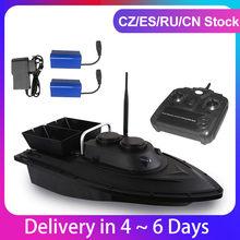 Barco a Control remoto con 2 baterías D11, buscador de peces, cebo de pesca, 1,5 kg de carga, 500m, velocidad fija, 2 motores, 2 papeleras, 2 luces LED
