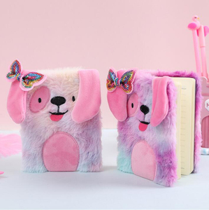 Plush Cute Cartoon Dog Diary Book Notebook Notepad Pretty Gift Support DropShipping