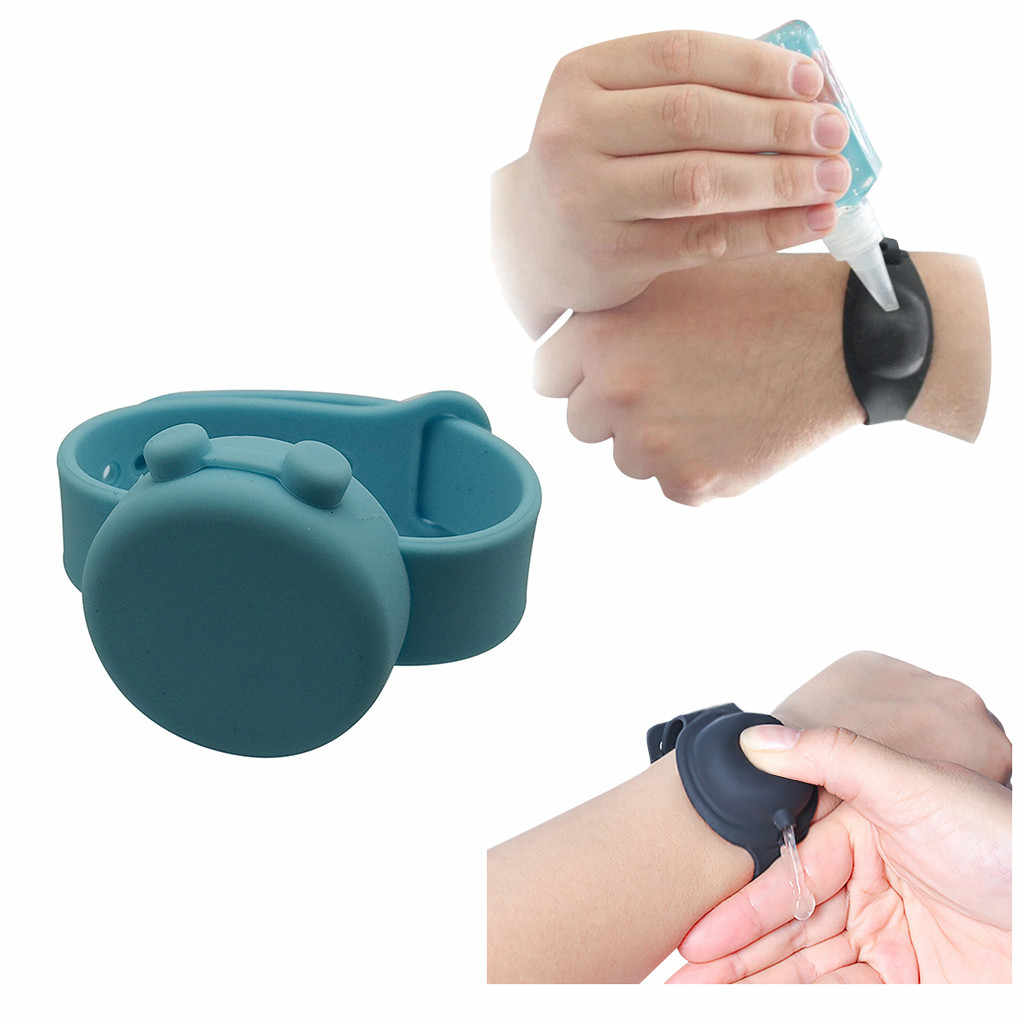 1PC Adult Kid Silicone Wristband Hand Dispenser Handwash Gel Suncream Lotion Dispenser Outdoor Kids Portable Soap Dispenser