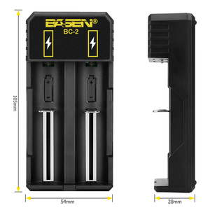 Image 5 - Battery charger 18650  26650 21700 Li liion battery Smart Charger with charger EU USB cable  lithium battery 5v 2A wall adaptors