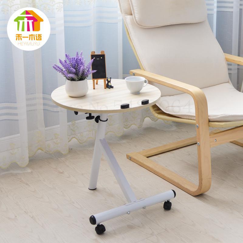 Простой круглый современный угловой боковой столик для гостиной мобильный диван Маленький журнальный столик маленький столик