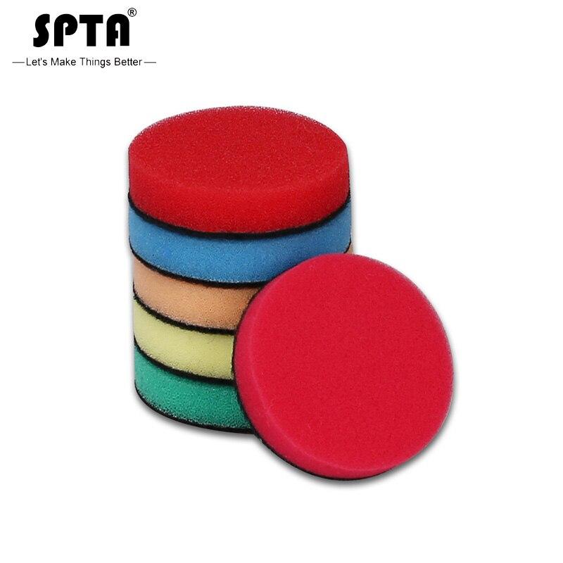 SPTA 1 inç (30mm)/2 inç (50mm) /3 inç (80mm) detay köpük sünger parlatma pedleri ve parlatıcı pedleri DA/RO/GA Mini araba parlatıcı