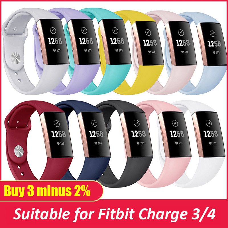 Silicone Strap For Fitbit Charge 4 Band Replacement Wristband Charge3/Charge4 Smart Watch Sport Bracelet Fitbit Charge 3 Band