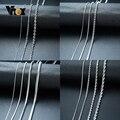 Vnox Grundlegende Kette Halsketten für Männer Nie Verblassen Ton Edelstahl Rolo Box Schlange Ketten Halskette 18-24 zoll