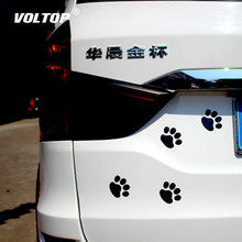 Car Sticker Cool Design Paw 3D Animal Dog Cat Bear Foot Prints Footprint 3M Decal Stickers Silver Gold Red Accessories
