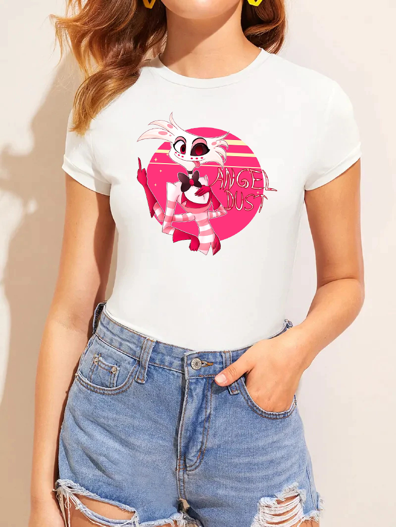 Hazbin Hotel Cast Women T Shirt Funny Streetwear Graphic Print Women Tops Tees (Original) T-Shirt Short Sleeve Casual Tshirts