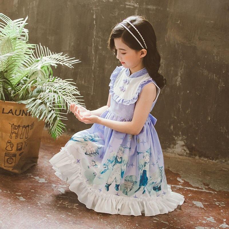 Children victorian Lolita skirt Spanish princess skirt lolita skirt gilrs summer dress birthday dress skirt cartoon loli dress