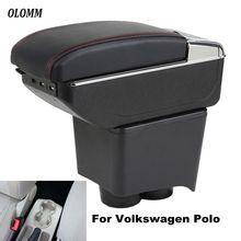 Подлокотник коробка для Volkswagen Polo подлокотник поло седан 2002-2009 центральный содержимое коробка для хранения usb зарядка с держатель стакана, пепельница в автомобиль аксессуары
